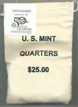 2002 -P State Quarter - MISSISSIPPI - $25 MINT SEWN BAG - $41.95