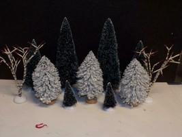 FOR YOUR DEPT 56 /LEMAX VILLAGE - 11 DEPT 56 TREES - $11.88
