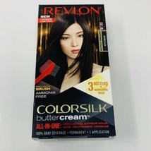 Revlon 30/20N Brown Black Colorsilk Buttercream Permanent Hair Color Dye - $9.49