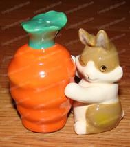 MWAH CARROT & BUNNY Salt & Pepper Shakers (Westland, 93475) Magnetic, Ce... - $14.85