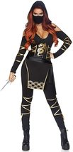 Women's 5 Piece Black Samurai Ninja Costume Set image 2