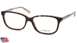 New Coach Hc 6143 5120 Dark Tortoise Eyeglasses Frame 54-15-140 B38mm - $64.34