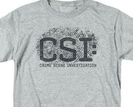 CSI t-shirt crime scene fingerprint logo TV drama series graphic series CBS1215 image 2