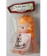 "8"" Vintage 1988 Crochet Pillow Doll Open Close Eyes Blonde Hair Cute Bab... - $16.14"