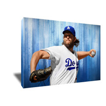 LA Dodgers Ace CLAYTON KERSHAW Poster Photo Painting Artwork on CANVAS W... - $33.75+