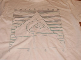 Boys youth Quiksilver 1969 L large white short sleeve T shirt L NWOT NEW - $7.79
