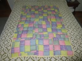 """Pastel BABY RANDOM PATCHWORK Cotton CRIB QUILT - 35"""" x 51"""" - $19.80"""