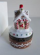 Avon Gingerbread House Porcelain Trinket Box and Tiny Gingerbread Man 19... - $13.97