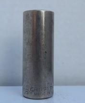 """Vintage Craftsman Deep Socket 11/16"""", Upside Down G Series, 12Pt, 3/8 dr, #43316 - $12.24"""