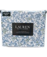 Ralph Lauren Blue and Green Wild Flowers Country Cottage Sheet Set Queen - $84.00