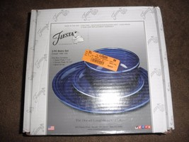 Fiestaware 3 Pc Bistro Set blue cobalt New - $34.65