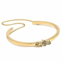 Coach F33376 Women Bracelet Gold Horse & Carriage Double Chain Cuff - $49.49