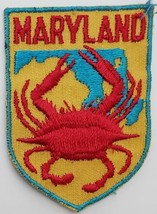 """Vintage Maryland 'Crab' Souvenir Embroidered Patch 2-3/4""""  x 2"""" - $3.95"""