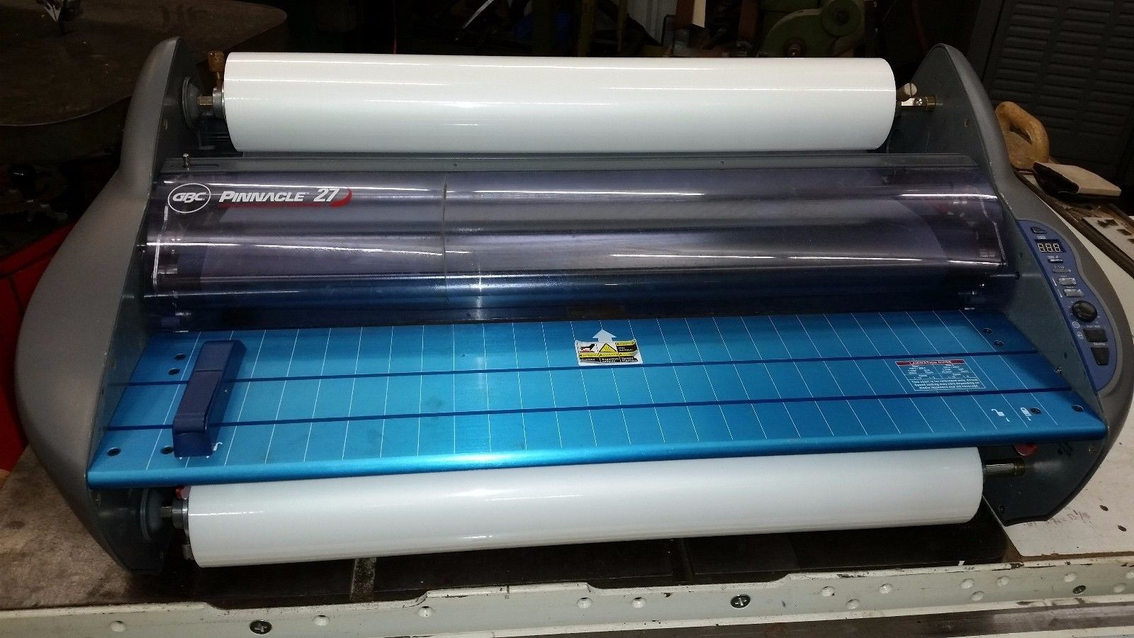 GBC Pinnacle 27 hot shoe document roll laminator nap1 nap2 & 500' rolls of film