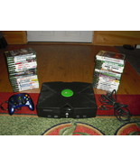 Microsoft Xbox Original  Black Console System Tested w/ 35 Games - $158.39