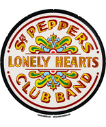 Sgt. Peppers Lonely Hearts Club Band shaped Self Cling vinyl Window stic... - $4.50