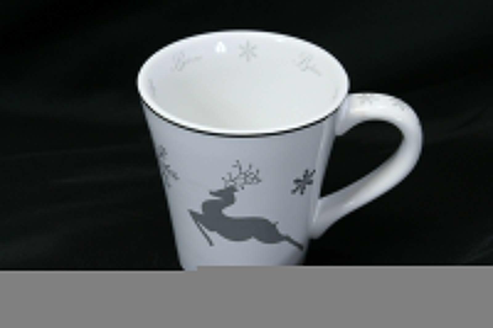 "St Nicholas Square Reindeer Believe Mug 4.5"" Tall"