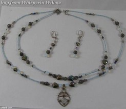 3 pc Enduring Heart Necklace/Earring Set - $24.95