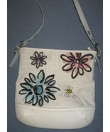White Logo Floral and Bee COACH purse - $150.00