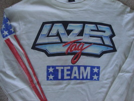 Vtg 80s Lazer Tag USA 1986 Team gun game long sleeve t shirt M - $79.19