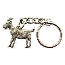 Goat Keychain ~ Antiqued Pewter ~ Keychain - $9.99