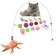 Cat Toys 16Pcs Variety Pack Mouse Catnip Balls Feathers Set Feline Enter... - $7.66