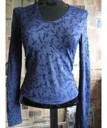 Cosabella Flocked Velvet Sparkle Floral T shirt top  M - $44.68