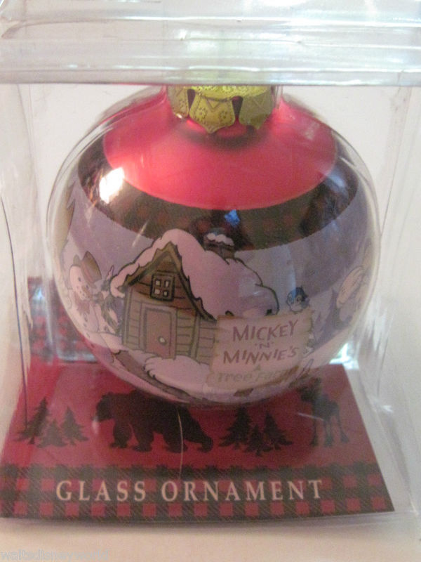 Disney Mickey and Minnie's Tree Farm Ornament theme park retired NEW !!