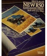 Deutz-Allis Gleaner R50 Combine Brochure with Poster-Sized Foldout - NICE! - $10.00