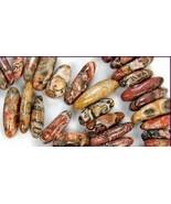 destash Leopard Jasper Stick 6x11-7x20mm Natural Beads x 10 - $10.00
