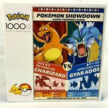 Pokemon Puzzle Showdown Charizard vs Gyarados Buffalo Games 1000 Pieces ... - $37.82