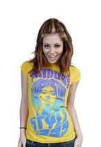 Famous Stars & Straps Womens Juniors Yellow Maria Callas T-Shirt image 2