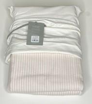 Restoration Hardware Heirloom Pinstripe Cotton-Linen Duvet Twin Rose NEW... - $119.99