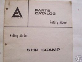 1972 Allis Chalmers 5HP Scamp Riding Mower Parts Manual - $10.00