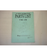 Agma Part List Manual for VMC-158 - $25.00