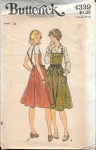 Vintage Butterick #4339 Misses' Jumper - Size 14 - UNCUT - $12.00