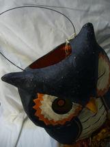 Bethany Lowe Owl Paper Mache Bucket  image 4