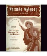 Walt Disney '56 Sheet Music WRINGLE WRANGLE Westward Ho the  - $4.00