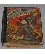 Children's Big Little Book, Lions and Tigers with Clyde Beat - $7.00