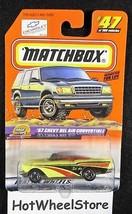 1999  Matchbox  Yellow  '57 Chevy Bel Air Convertible   Card #47    MB-2-122417 - $2.95
