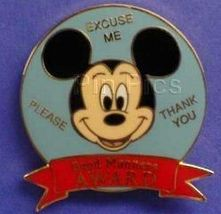 Disney WDW Mickey Good Manners Award Pin/Pins - $16.51