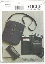 Vogue 9221 Kathryn Brenne Accessories Pattern Travel Bag, Wallet, Eyegla... - $12.73