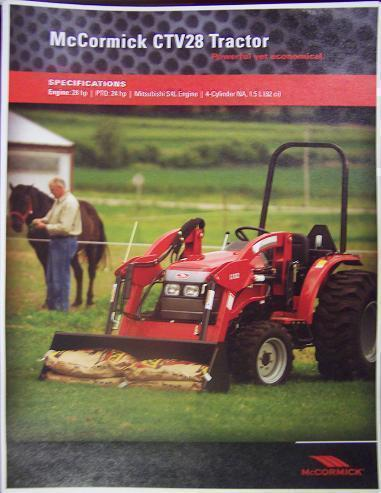Primary image for 2008 McCormick CTV28 Tractor Brochure
