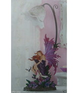 CHILDDREN LAMP - GIRL BEDROOM PURPLE ORCHID FAIRY TABLE LAMP - NEW - $49.87