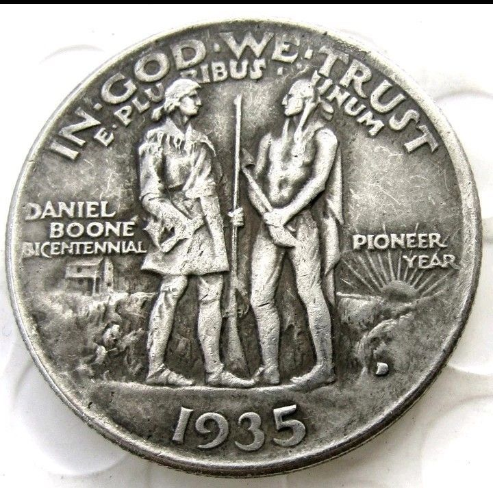 Primary image for 1935 Daniel Boone Bicentennial Pioneer Commemorate Half Dollar Pressed Coin
