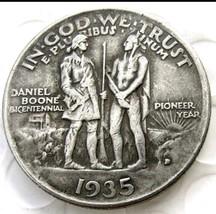1935 Daniel Boone Bicentennial Pioneer Commemorate Half Dollar Pressed Coin - $11.99