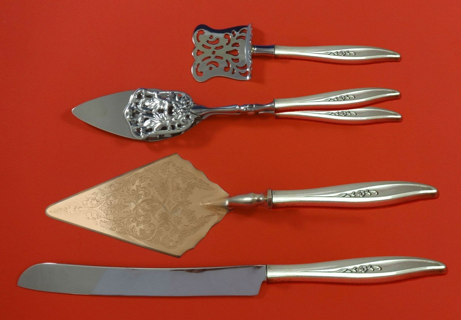 Primary image for Twilight by Oneida Sterling Silver Dessert Serving Set 4pc Custom Made