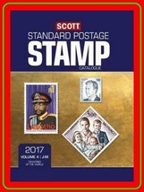 2017 Scott STAMP Catalog Volume 4 (J-M) SLIGHTLY Used very GOOD free SHI... - $25.74