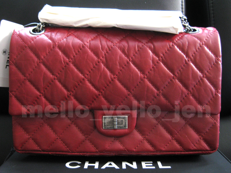 4fe808acb9a1 Img 1003122191 1489564905. Img 1003122191 1489564905. Previous. NWT Chanel  12P Matte Red Distressed Calfskin RHW Reissue 226 Flap 2.55 Classic