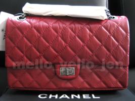 NWT Chanel 12P Matte Red Distressed Calfskin RHW Reissue 226 Flap 2.55 C... - $6,899.00